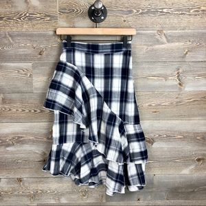 Nasty Gal Collection Plaid Ruffle Skirt